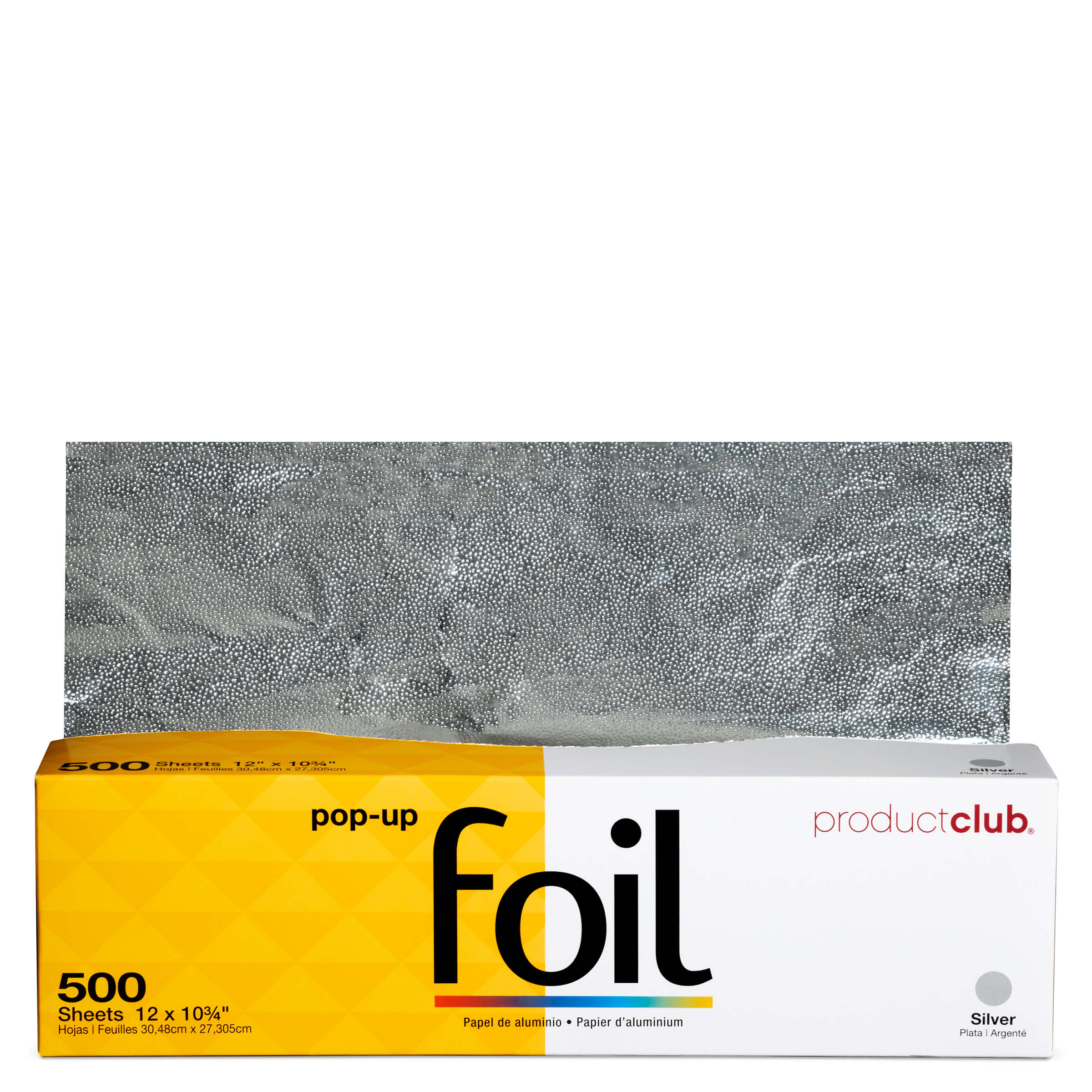 """Extra Wide Pop-Up Foil - 500 CT., Silver 12"""" X 10¾"""""""